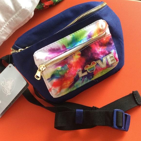 Disney Handbags - Rainbow Mickey Mouse Disney Fanny Pack NWT